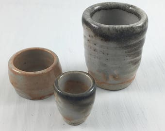 Minituare hand thrown Pottery cups.