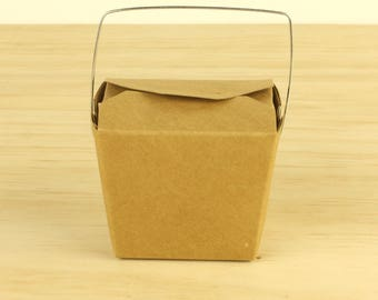 SMALL Brown NOODLE BOXES | Lolly Box Candy Bag Buffet | Gift Bags Brown Paper Loot - 8oz