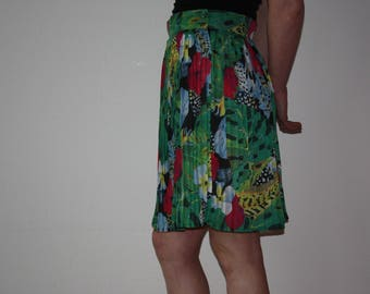 Marc Aurel tropical Jungle print skirt