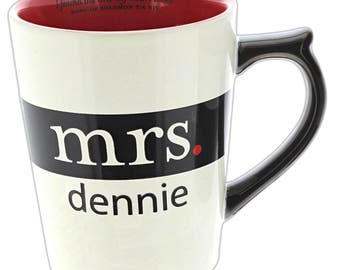 Personalized Mr and Mrs Mugs - I Found the One My Heart Loves (Sold Separately)