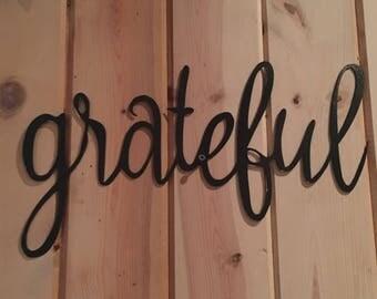 Grateful wall hanging