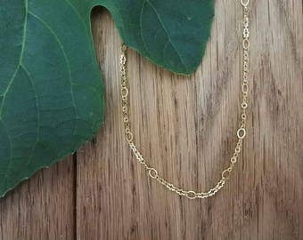 "SALE! Necklace ""Moata"" simple chain cloud - Cloud Chain - Simple Necklace - Minimalist Jewellery - Gold jewellery"