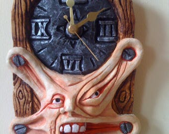 Hand made gothic wall hanging clock