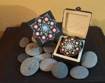 BarbaraMandalaTFS#23  Mandala Jewellery Box with Swarovski elements
