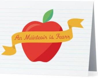 An Múinteoir is Fearr- Best Teacher Card