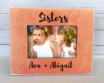 sisters picture frame nursery decor brothers picture frame sisters frame personalized picture frame custom gift for sisters
