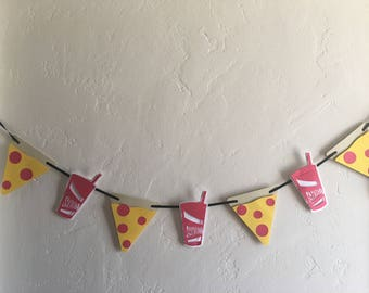 Pizza Party Garland Pepperoni Pizza
