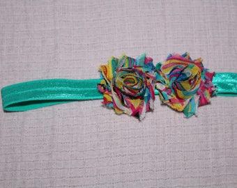 Rainbow Flower Headband for Baby Girl