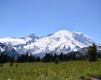 Mt Rainier Blank Photo Card