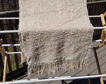 Medium Weight Tan Nubby Cotton/Linen Wrap