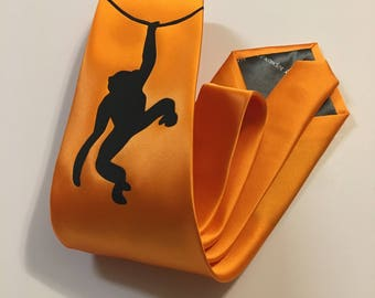 Monkey Necktie, Orange