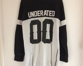 T-shirt long sleeves black and white Underated