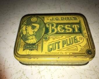 J G Dill's Best Cut Plug Tobacco Tin