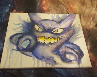 Hand Painted Haunter Pokemon