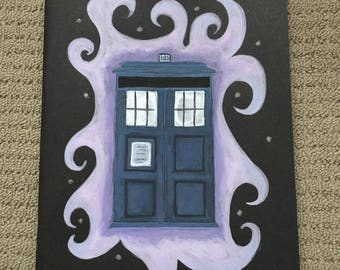 Hand Painted Doctor Who Tardis A4 Notebook