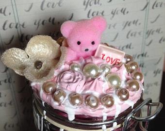 Bear Bee Decoden Jar