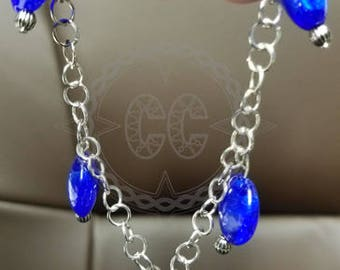 star of David blue bracelet