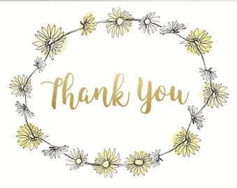 LITTLE PAPER LANE- Daisy Chain Thank you notecard set of 12