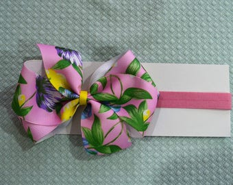 Light Pink Floral Baby Headband