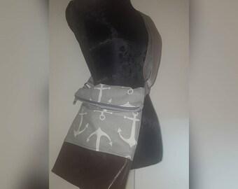 Shoulder bag cosmetic bag - anchor design incl.