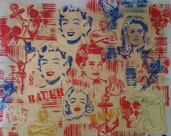 Spray art composition