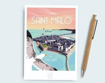 Postcard St. Malo