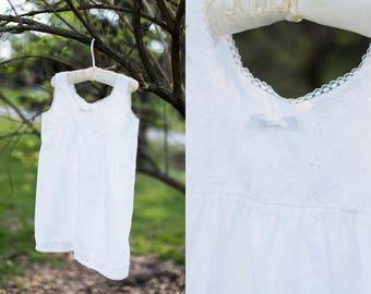 Eloise slip dress | vintage ivory slip dress