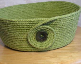 Seaweed Dreams handmade rope bowl