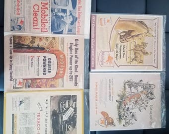 X5 gas oil cards posters Texaco mobile collectors year 1931