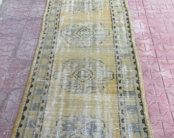"Vintage Rug, Carpet Runner Rugs ,Vintage Turkish Rug,Home Office Rug,Designer Rug,Turkish Rug,Home Decor 345 x 89 cm / 11'31"" ft x 2.91ft"