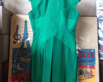 Castelbajac dress / / green / / long / / mode / / connected / / couture / / upscale / / couture / / VintageALaMaison / / gift