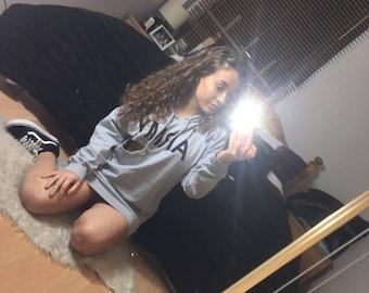 kylie grey distressed army hoodie jumper dress