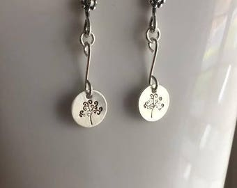 Sterling Silver stamped earrings