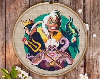 Villains Cross Stitch Pattern for Instant Download - 020| Easy Cross Stitch| Counted Cross Stitch| Modern Cross Stitch