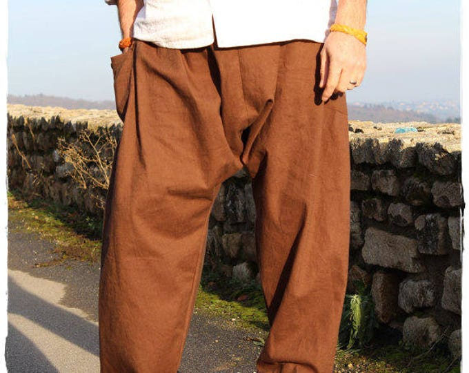 Linen large Harem pants for men