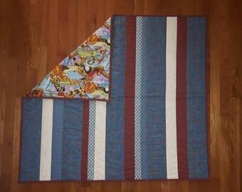 Noah's Ark Strip Baby Quilt