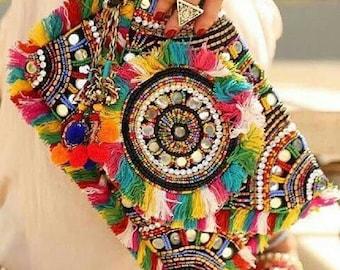 Handmade Beaded Etnhic Chic Bags