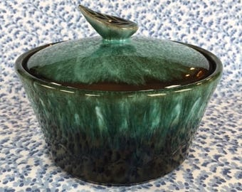 Vintage Royal Canadian Art Pottery Covered Dish 1960s