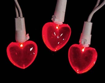 Sienna LED mini red heart lights indoor outdoor wedding party decoration