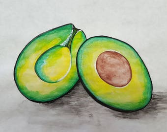 Watercolor Painting: Avocado Lovin'