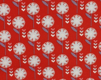 SALE - Retro Floral 'Daisy on red' by Fabric Freedom Fat Quarter