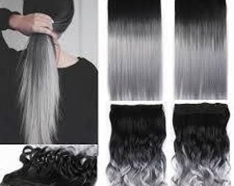 Silver Ombre Remy Human Hair Extensions