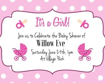 Custom Baby Shower Invitations pack of 10