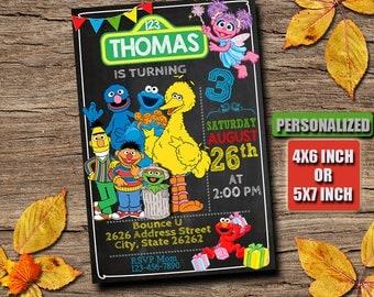 Sesame Street / Sesame Street invitation / Sesame Street Birthday invitation / Sesame Street Party / Sesame Street Printable / Sesame Street