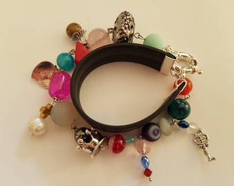 Made by me. Werry nice bracelet from natural stone beads and charms.