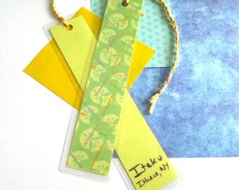 Washi Paper Laminated Bookmark