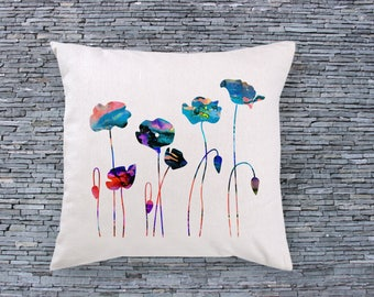Flowers Art Pillow - Art Pillow Cover - Art Throw Pillow - Fashion Pillow