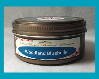 Woodland Bluebells Double Wick Soy Candle Tin