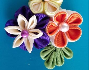 Kanzashi flower cluster