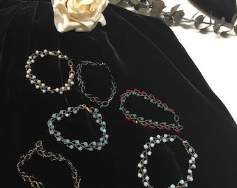 Handmade crystal beaded bracelets